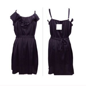 Black apostrophe dress